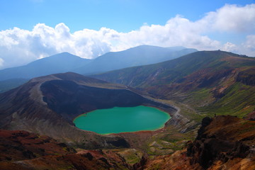Mt. Zao and crater lake