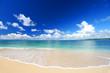 Leinwanddruck Bild - 南国の美しいビーチと紺碧の空