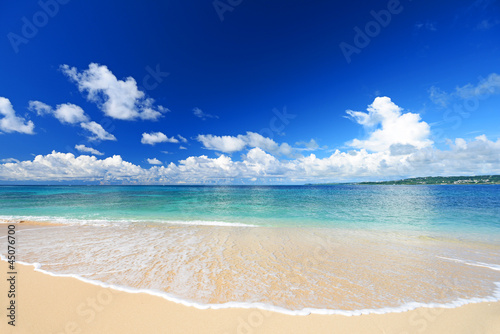 Leinwanddruck Bild 南国の美しいビーチと紺碧の空