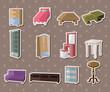 cute cartoon furniture stickers