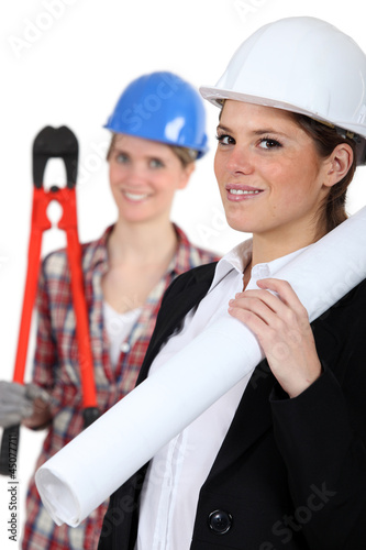 a female architect and a female builder