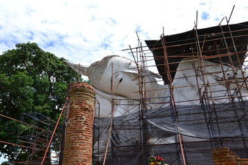 Buddha image under renovation