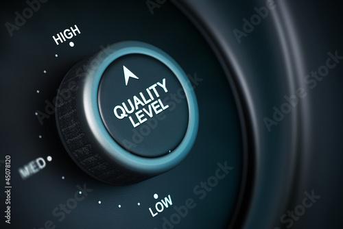 Leinwanddruck Bild high level of quality management