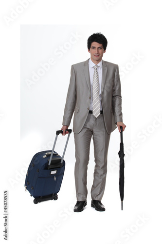 Businessman going on a trip