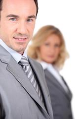 Close up of a businessman