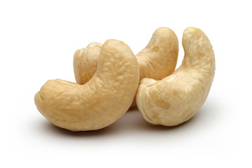 Three Cashew nuts