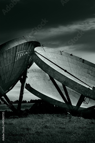 old radar dishes