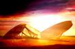 sun flare radar dishes