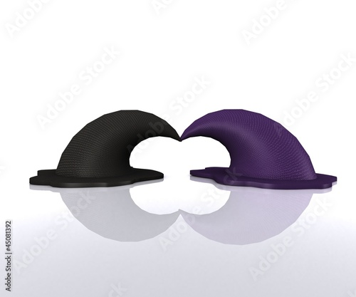 Pair of magical Hats - 3D