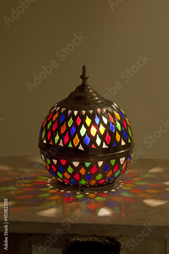 Tradtional Moroccan stained glass lamp