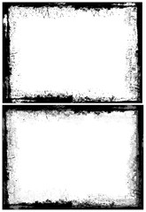 Grunge Dirty Frame Border Vector