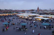 Djemaa el Fna market in early evening