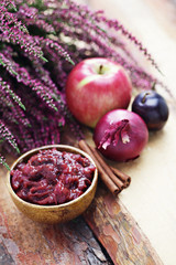 plum and apple chutney