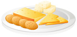 biscuits and cheese