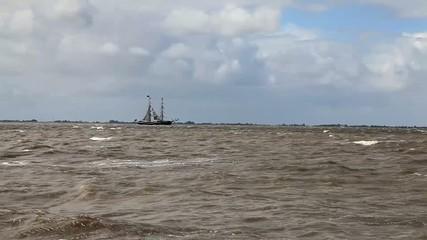 Segelboot auf der Weser