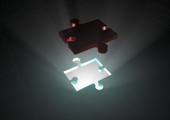 Solution jigsaw puzzle