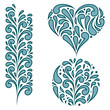 Vector set of swirling decorative elements