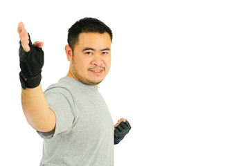 Man karate in body combat