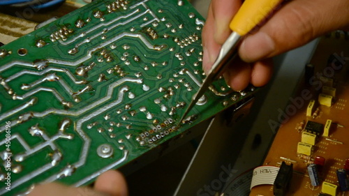 Electrical is cleaning for soldering and repair