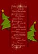 Weihnachten, Weihnachtskarte mit Baum
