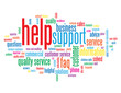 """HELP"" Tag Cloud  (information support customer service hotline)"