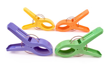 Colorful large cloth pins