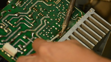 Electrical is soldering for repair electronic equipment