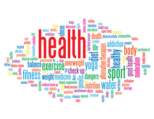 """HEALTH"" Tag Cloud (dieting weight medicine fitness lifestyle)"