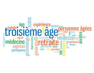 """Nuage de Tags """"TROISIEME AGE"""" (vieillesse retraite générations)"""