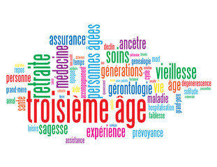 """Nuage de Tags """"TROISIEME AGE"""" (retraite vieillesse générations)"""