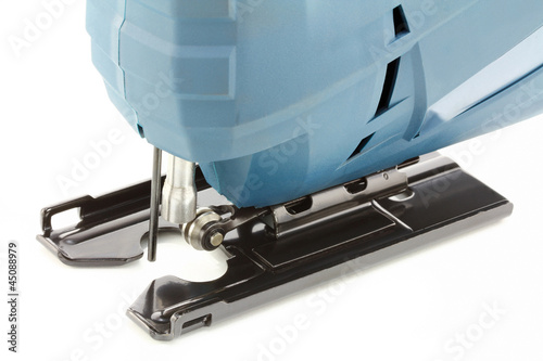 Professional Electric Jig Saw on white background