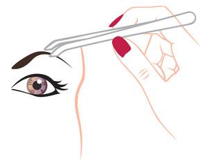 curling eyebrows