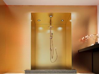 doccia oro lusso benessere sauna bagno interior