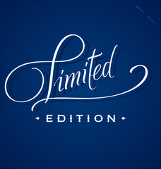 'Limited' hand lettering (vector)