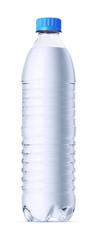 0.6 liter plastic bottle of water. Isolated on white.
