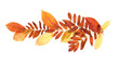 Decorative element.  Border made of autumn dead leaves