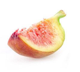 Slice's Fig  isolated on white background
