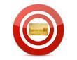 Target a credit card illustration design
