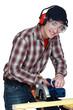 Man using a circular saw