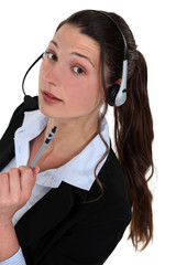 Portrait of a call centre agent
