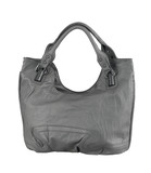 Beautiful genuine lady leather handbag in gray color poster
