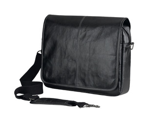 Nice leather computer bag or brief case isolated