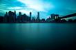Brooklyn Bridge and Manhattan Skyline, New York City.