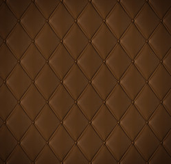 Brown quilted leather