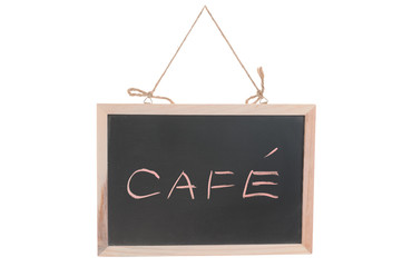 Cafe word on blackboard