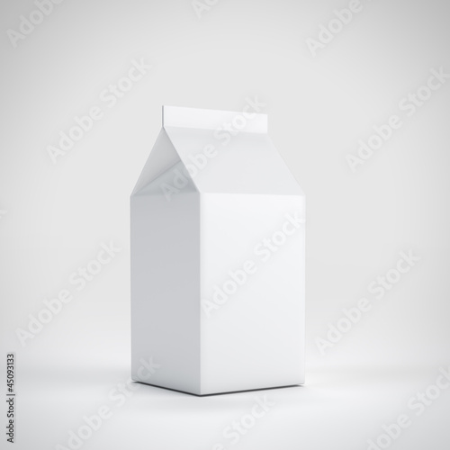 Small milk white carton package