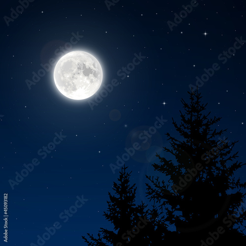 Fototapeta Full moon with lens flare
