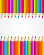 Rainbow colorful pencils banner pattern