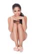 Beautiful barefoot woman