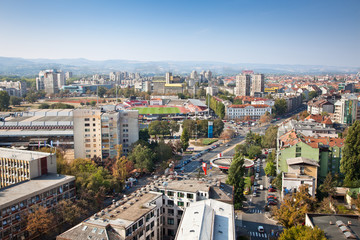 Panoramic view of Novi Sad,  Serbia